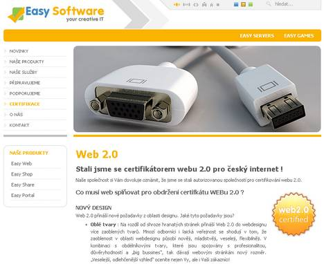 EasySoftware jako Web 2.0 certifikátor