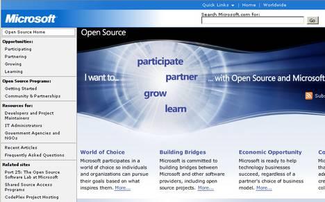 Microsoft Open Source Home