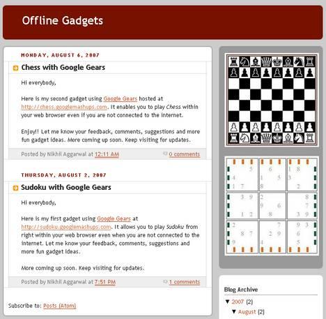 Offline Gadgets
