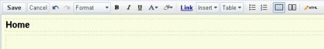 Google Siter - editor
