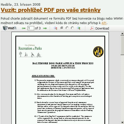 Vuzit na blogu České školy