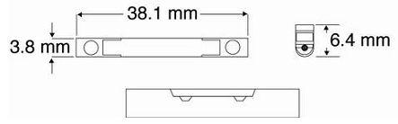 Rozměry optické spojky Fibrlok 2529 II