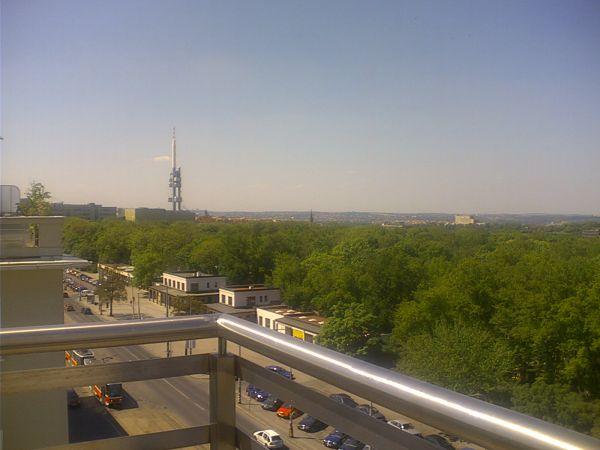 Terasa s výhledem na Žižkovskou věž