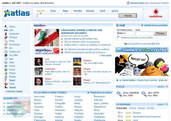 Nová HP Atlasu 2007