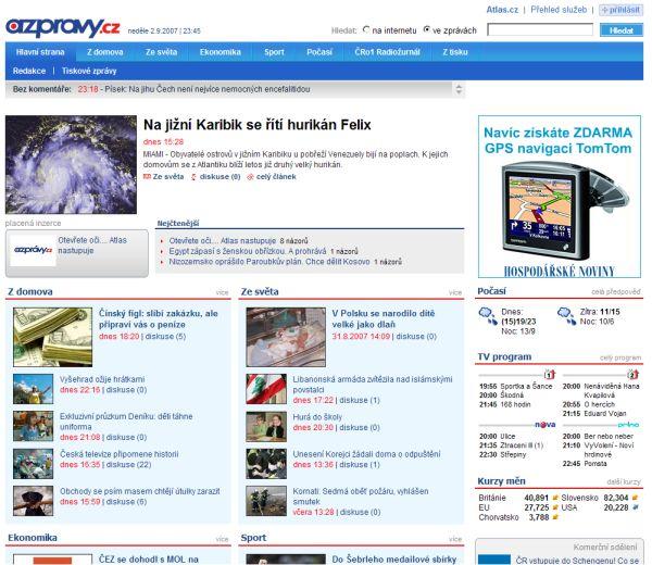 Nové zpravodajství Atlasu - AZpravy