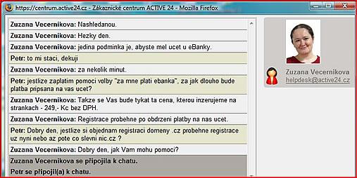 screen shot helpdesk Active24