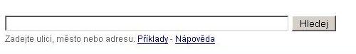 Vyhledávací pole - Mapy.cz