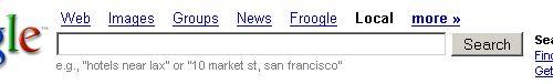 Vyhledávací pole - Google Maps