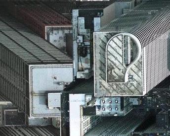 Hroutící se budovy v Google Local.
