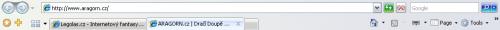 Nástrojová lišta Internet Exploreru 7.