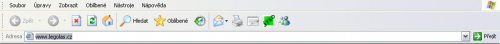 Nástrojová lišta Internet Exploreru 6.
