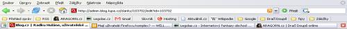 Nástrojová lišta Firefoxu.