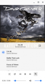 Hudební přehrávač v Chrome OS.