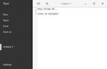 Textový editor v Chrome OS.