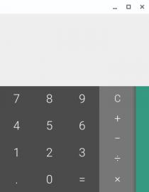 Kalkulačka v Chrome OS.