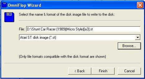 Výběr obrazu diskety.