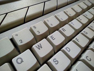 Detail klávesnice.