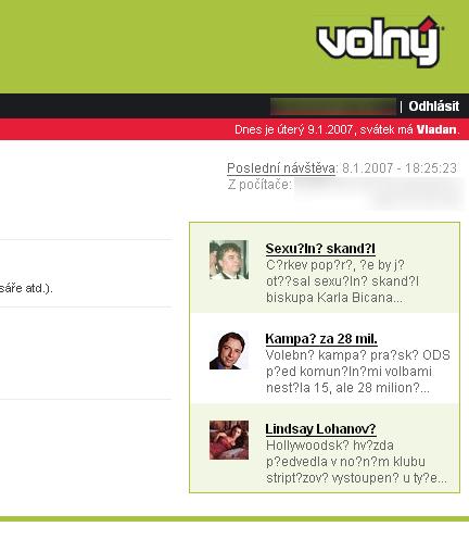 Volný.cz - WebMail - Mozilla Firefox