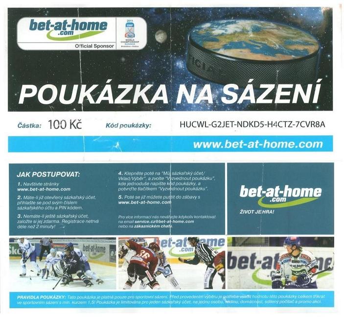 Poukázka na sázení bet-at-home.com