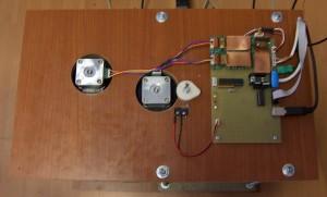 pohled shora - elektronika a motory