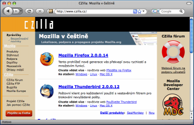 Firefox 3 na Mac OS X