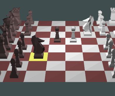 Screenshot 3D sachy v JavaScriptu