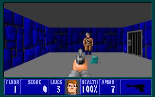 Wolfenstein v Javascriptu - screenshot