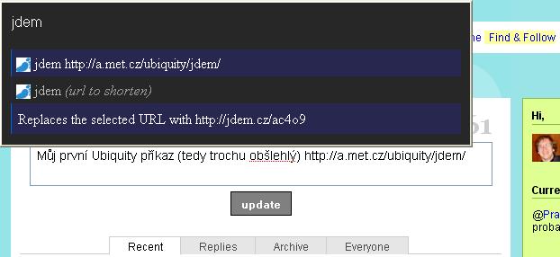 Screenshot Ubiquity s Jdem