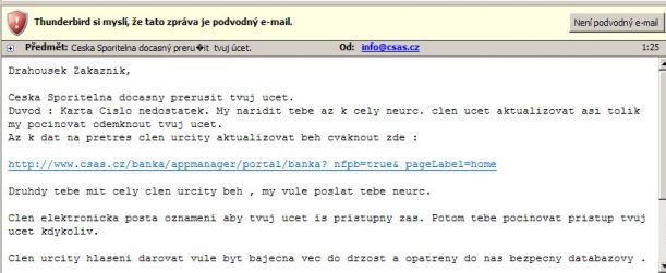 mail sporitelny