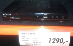 DVB-T2 set-top-box je již možné zakoupit v běžném obchodě, za přijatelnou cenu.