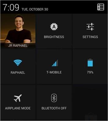 Android rychlé nastavení