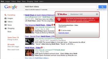 Zneužití Heidi Klum ve vyhledávači