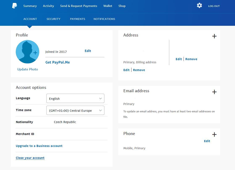 Smazat účet s připojením