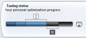 Znázornění stupně optimalizace