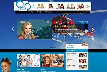 Nový web Disney Channel v ČR a na Slovensku používaný od března 2014. Obrázek lze zvětšit.
