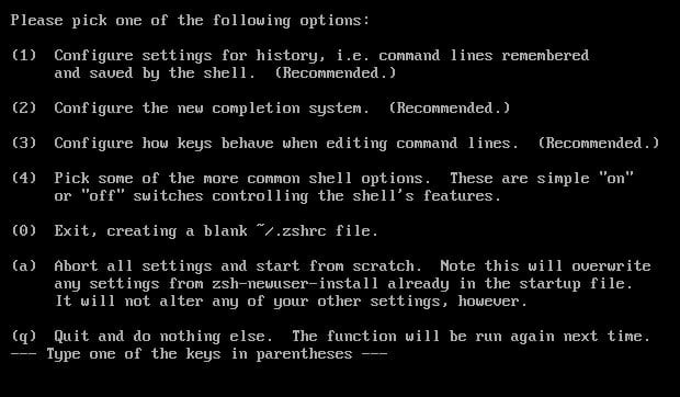 Arch: nastavení zsh pro uživatele