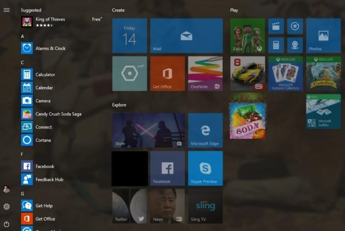 Vytvoření složky ve Windows 10 Creators Update