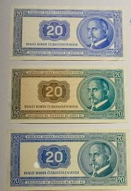 Nerealizované návrhy bankovek od Bohumila Heinze.