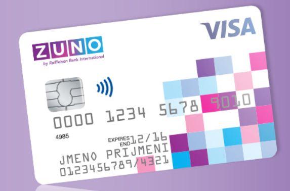 Zuno platební karta debetní
