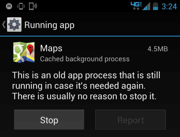 Android nucené vypnutí aplikace
