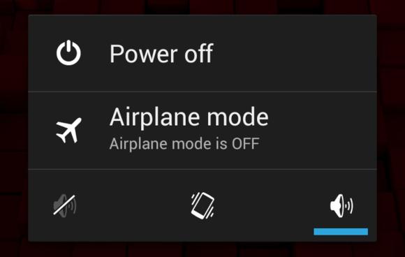 Vypnutí telefonu Android