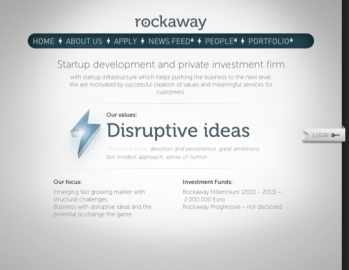 Web Rockaway.cz. Údaj o tom, že fond má pro roky 2010 - 2012 k dispozici dva miliony euro, tento týden zmizel.