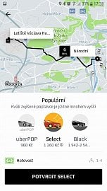 Odvrácená tvář Uberu: z ulice Národní na letiště Václava Havla za 2000 Kč. Ano, i to je Uber.