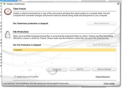 Toolwiz Time Freeze zamrazí systém a vytvoří virtuální realitu