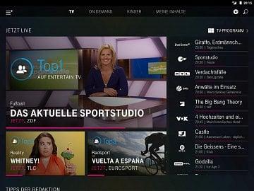 EntertainTV Mobil – verze pro smartphone a pro tablet