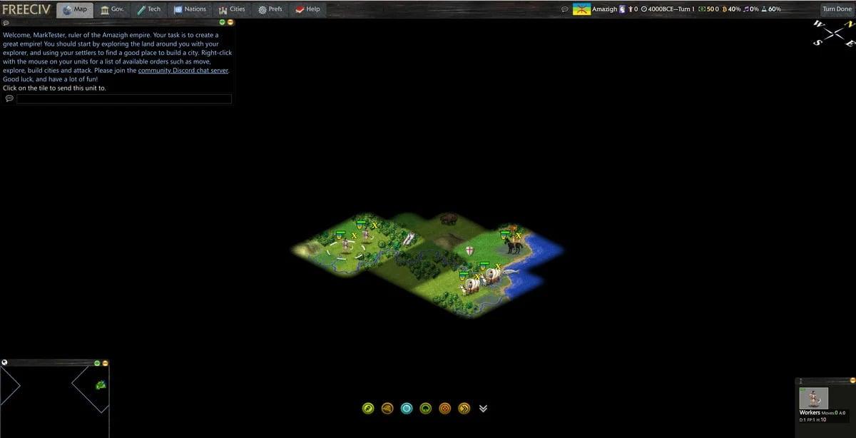 Počítačová hra FreeCiv Web sice právě nepatří mezi nejhezčí hry, ale spustíte ji na svém Chromebooku v internetovém prohlížeči a je zcela zdarma.