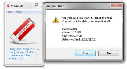 Pomocí Quick Erase trvale odstraníte data ze svého disku