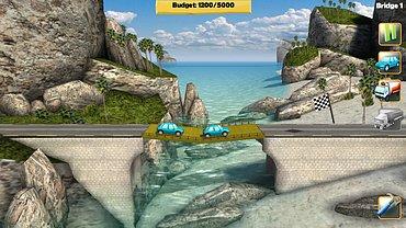 Bridge Constructor - obrázky ze hry.