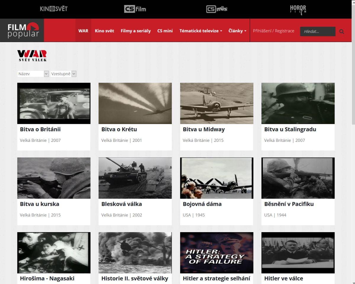 Film Popular už se stanicí WAR