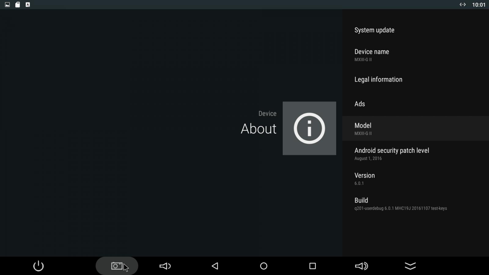 Android MX - uživatelské prostředí